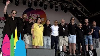 Mayor of London Sadiq Khan, Amy Lame and Board Of Pride In London Say Thank You