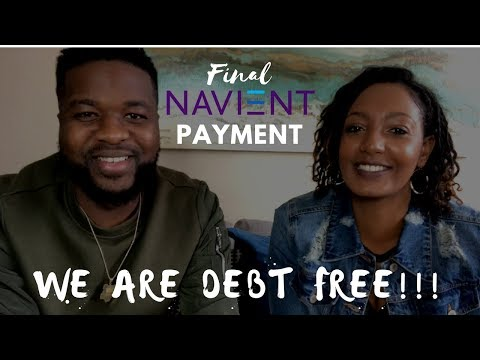 VLOG #2: FINAL NAVIENT STUDENT LOAN PAYMENT   WE ARE DEBT FREE!!!