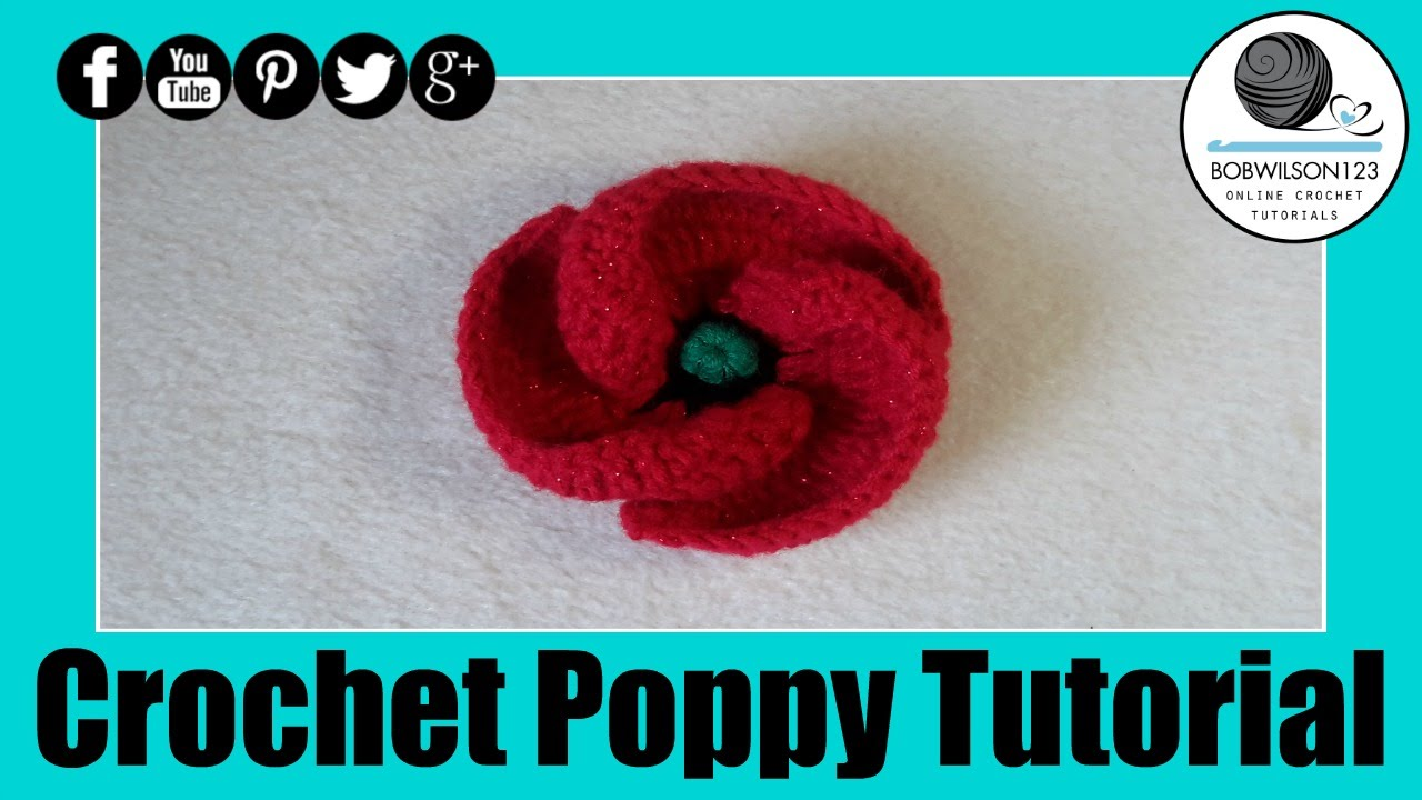 Crochet poppy design 3 of 3 tutorial 500 poppies project youtube bankloansurffo Image collections