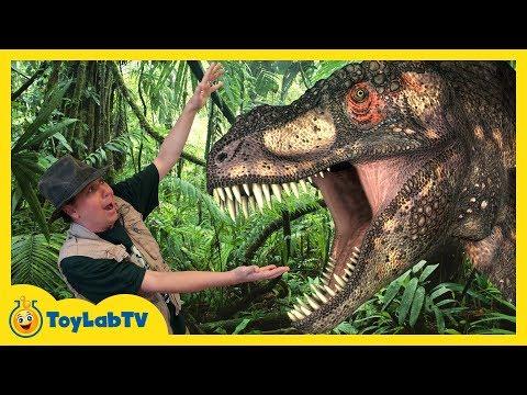 GIANT DINOSAUR THEME PARK & RAPTOR CHASE! Discover Dinosaurs Family Fun Kids Jurassic Adventure Toys