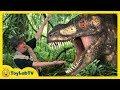 Giant Dinosaur Theme Park & Raptor Chase! Discover Dinosaurs Family Fun Kids Jurassic Adventure Toys video