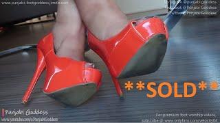 Shoeplay In Orange Heels | Shoes SOLD | Punjabi Goddess