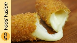 Mozzarella Sticks with Sour Cream Dip Recipe By Food Fusion