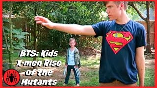 Behind the Scenes: New Kids X-men Rise of the Mutants superhero real live movie SuperHero Kids BTS 7