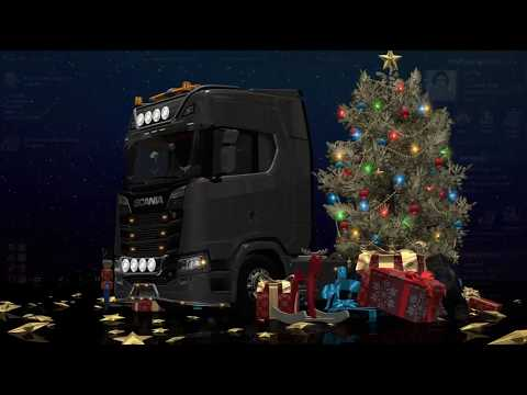 ETS2 1.30 - Scania S520 V8 - Gift Transport - New Year