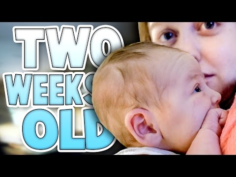 PARTY! TWO WEEKS OLD   Baby Family Vlog