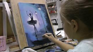 Мастер-класс маслом поэтапно картина. Уроки живописи для детей спб