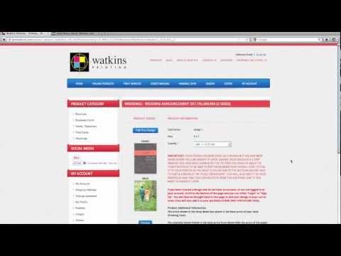 Watkins Printing Online Ordering Overview