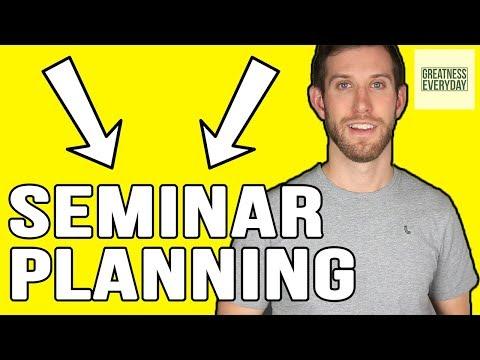 How to Plan a Seminar