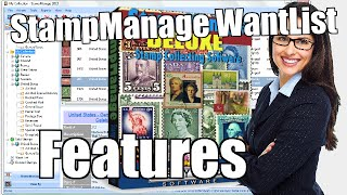 StampManage Want List Features - Philatelic Software