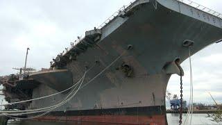 Aircraft Carrier John F. Kennedy ( CV-67 ) at Philadelphia Navy Shipyard