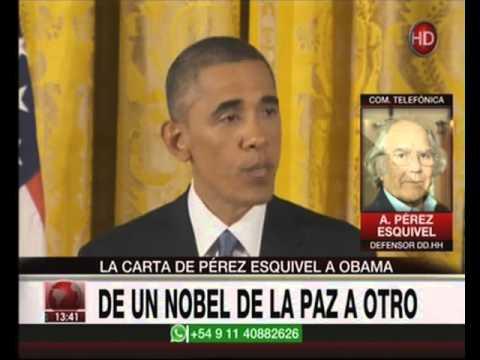 Canal 26 -La carta de Pérez Esquivel a Obama