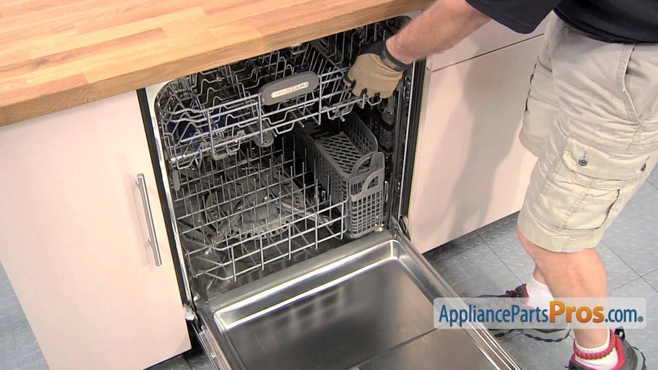 dishwasher tine row pivot part wpw10082853 how to replace [ 1280 x 720 Pixel ]
