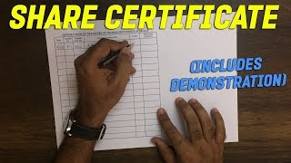SHARE CERTIFICATE ( with demonstration )