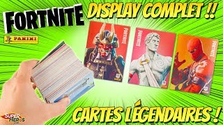 Panini FORTNITE I open a Full Display and Find Legendary Trading Cards