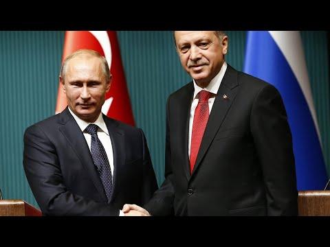 Встреча Владимира Путина с Реджепом Тайипом Эрдоганом. Полное видео