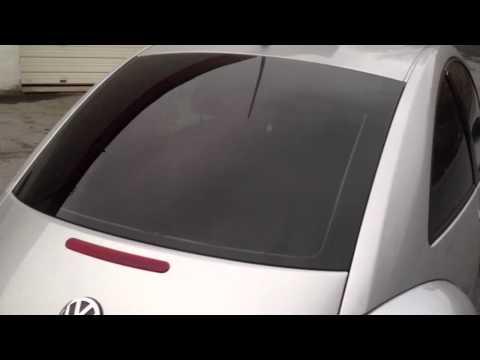 VW Bug Window Tint And Euro Plate