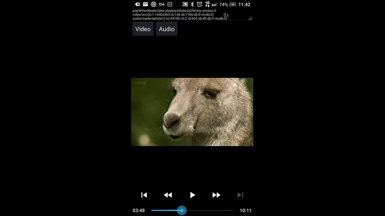 EXOPlayer V2 - trick playback high speed X8 demo