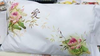 Mayumi Takushi – Pintura em Tecido Flor de Lótus
