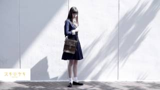 私立手越女子高等学校公式制服を着てもらいました。 『スキヤキ』 http:...