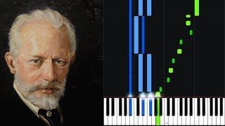 March: Song of the Lark - Pyotr Ilyich Tchaikovsky [Piano Tutorial] (Synthesia)