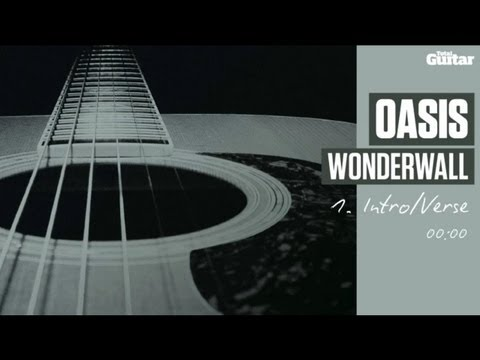 Guitar Lesson: Oasis 'Wonderwall' -- Part One -- Intro/Verse (TG213)