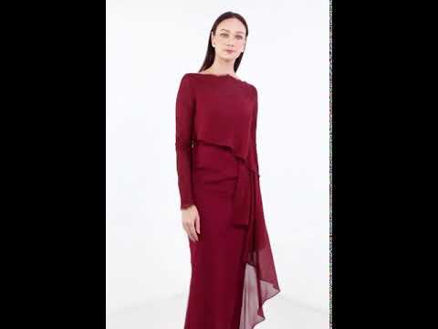 Selene Dress - Maroon