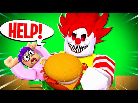 Can We Escape EVIL RONALD'S DINER!? (ROBLOX RONALD'S DINER OBBY!)