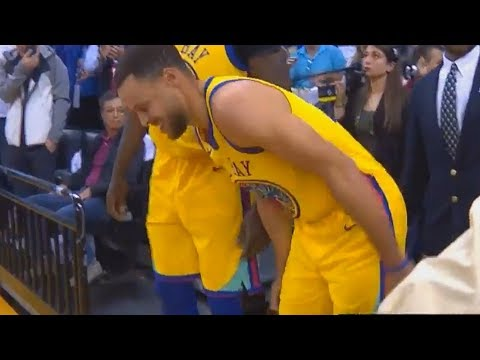 Stephen Curry Injury - Injures Ankle After Awkward Landing! Warriors vs Spurs
