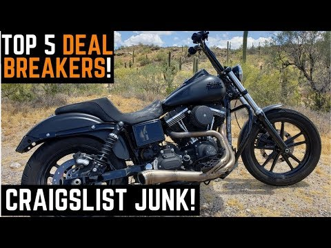My Top 5 Deal Breakers Buying Used Motorcycles On Craigslist: How To Avoid Garbage Deals