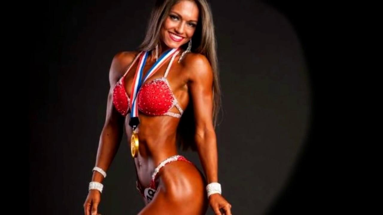 female fitness workout  - Yana Smith Bikini ifbb