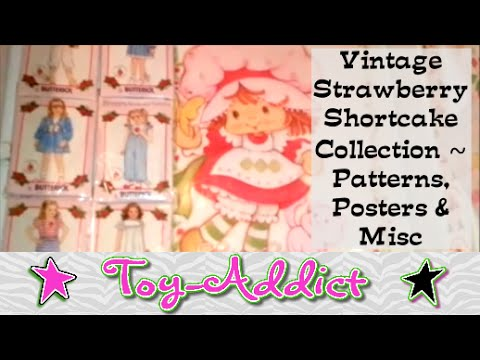 Vintage Strawberry Shortcake Collection ~ Clothing Patterns, Posters & Misc ~ Toy-Addict