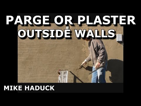 Beautiful How I Parge Or Plaster A Outside Wall. (Mike Haduck)   YouTube