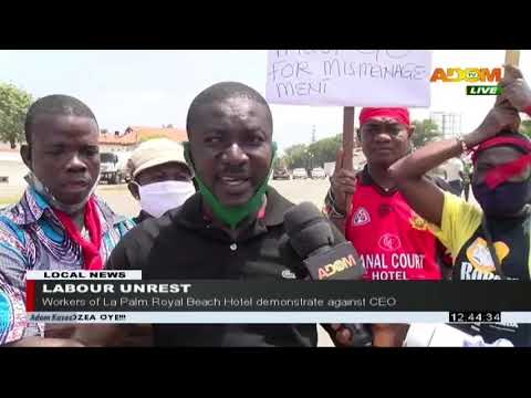 Labour Unrest: Workers Of La Palm Royal Beach Hotel Demonstrate Against CEO (4-8-20)