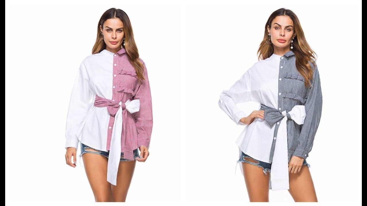 Новый тренд. Оригинальная женская рубашка - YouTube