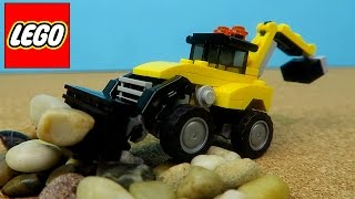 Lego Backhoe Dump Truck Telehandler Construction Vehicles