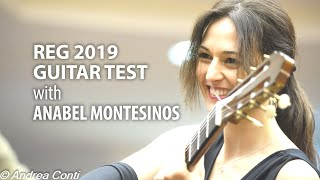 GUITAR TEST with Anabel Montesinos at Roma Expo Guitars 2019