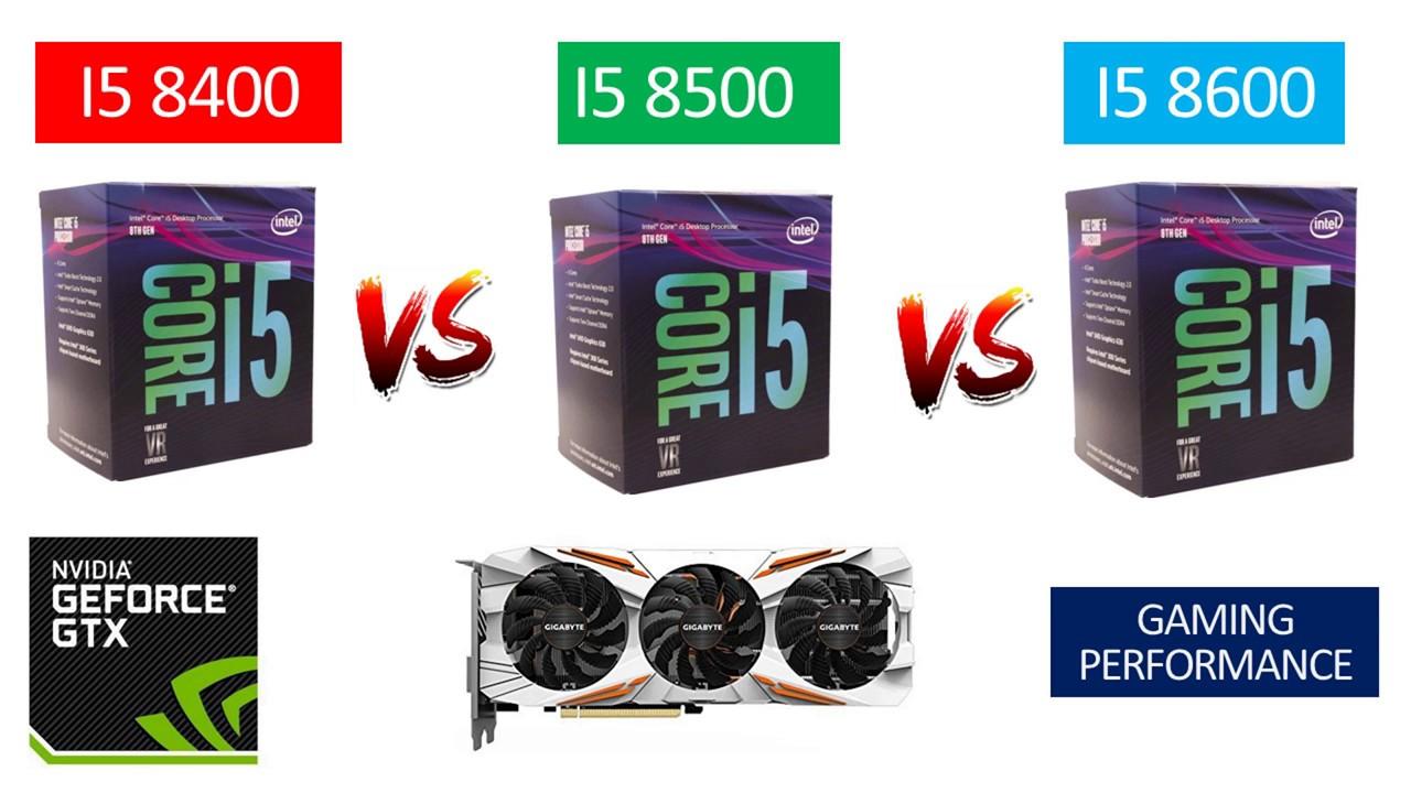 i5 8400 vs i5 8500 vs i5 8600 - GTX 1080 TI 11GB - Benchmarks Comparison