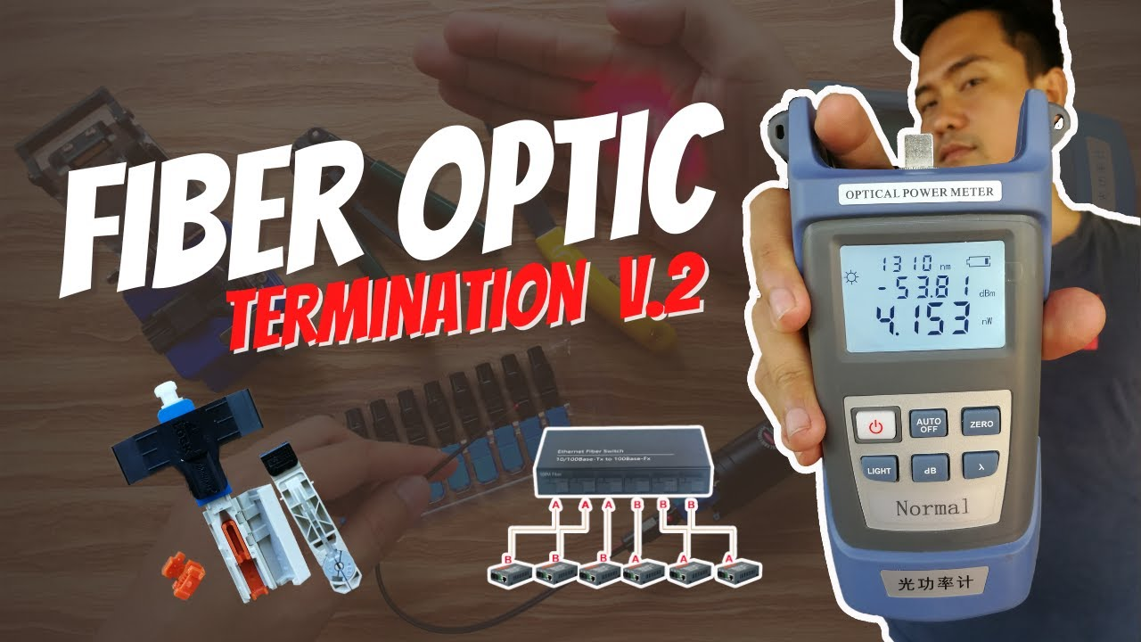 Simple Fiber Optic Cable Termination and Power Testing [Tagalog]