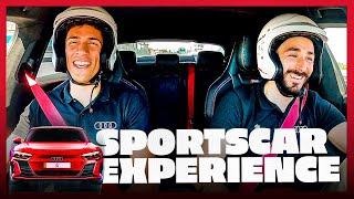 REAL MADRID players drive SPORTS CARS! | Benzema, Varane AUDI experience