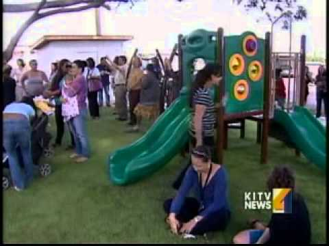 KITV covers the Opening of New Playground by IPR Hawaii at Salvation Army Diamond Head Preschool