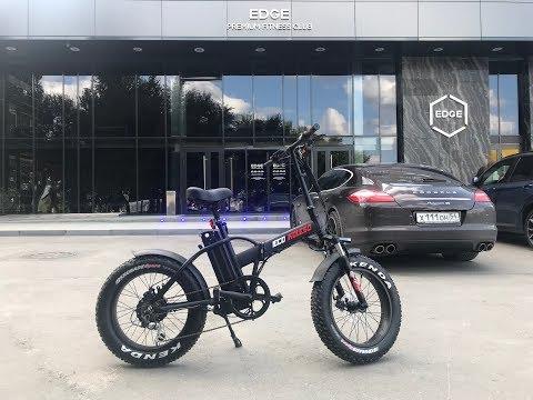 Измеряем запас хода электро фэтбайка Eco Drive V5 без использования педалей. Электровелосипед 2018