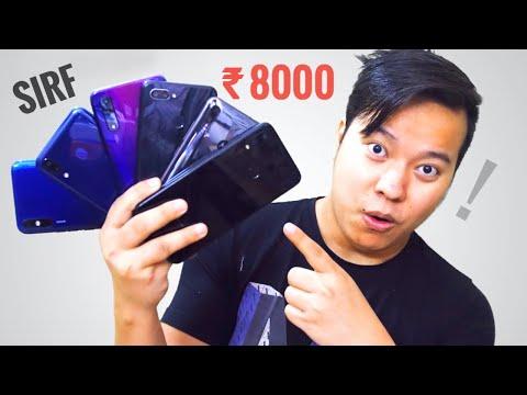 Top 6 Best Smartphones Under 8000 - Full Paisa Wasool 😍😍