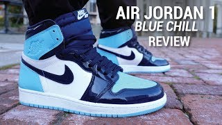 Air Jordan 1 Blue Chill UNC Patent Leather Review & On Feet