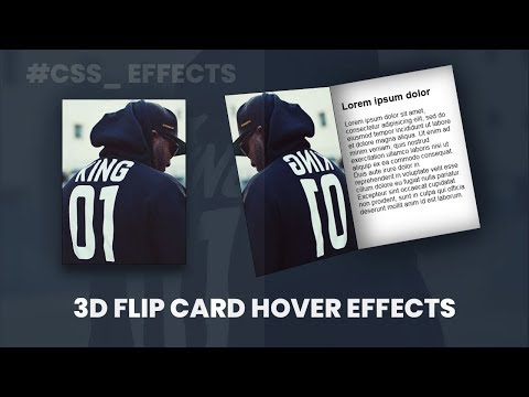 3d Flip Card Hover Effects | CSS Hover Effects