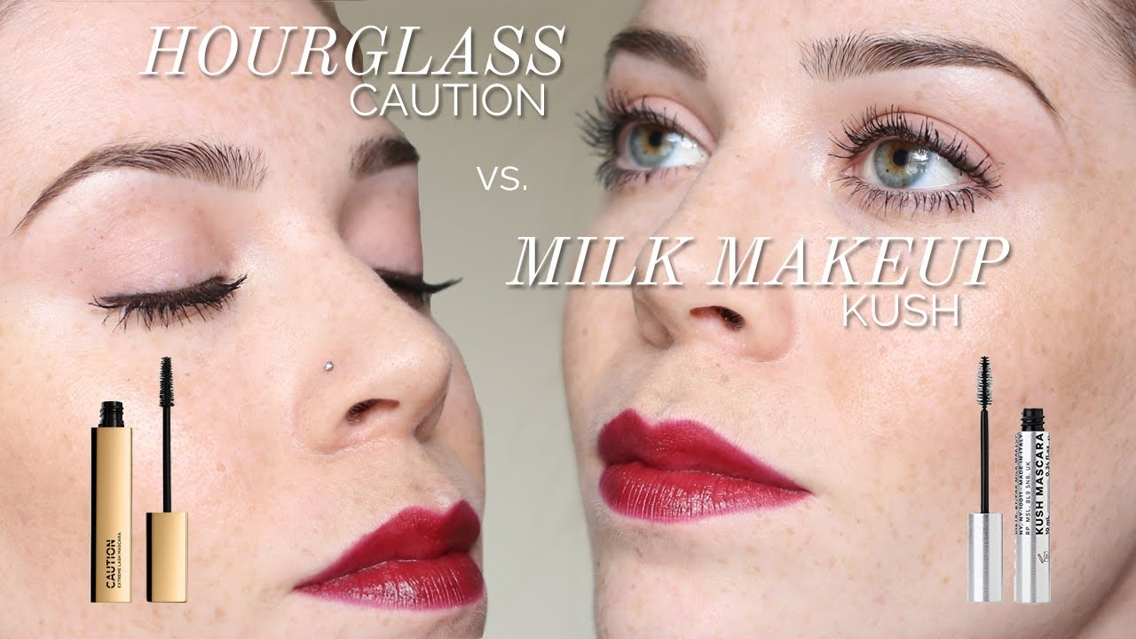 db215140cdc MASCARA FACEOFF: Hourglass CAUTION vs. Milk Makeup KUSH - YouTube