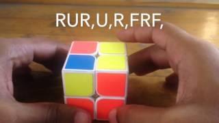 how to solve rubik s cube 2x2 ortega method bangla