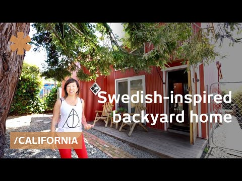 Swedish-inspired backyard cottage works as secluded oasis home