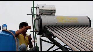 Hướng dẫn lắp máy nước nóng năng lượng mặt trời Suhino với bồn nước phụ