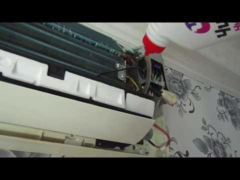 Как разобрать внутренний блок кондиционера samsung видео